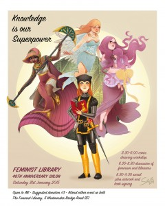 Women As Superheroes: A Comic Drawing Workshop to Celebrate 40 Years of The Feminist Library