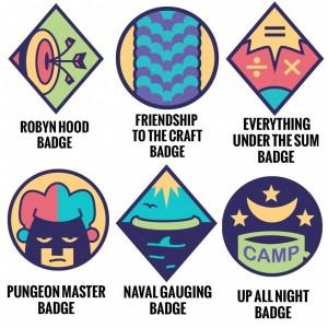 Lumberjanes Badges, artist Kate Leth, BOOM! Studios, 2014.