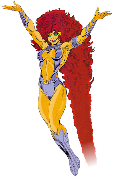 Starfire, Teen Titans, DC Comics, George Perez