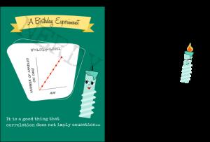 Nerdy Word birthday card correlation and causation