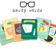 Nerdy Words birthday card line