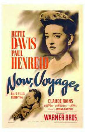 Directed byIrving Rapper Produced byHal B. Wallis Screenplay byCasey Robinson Based onNow, Voyager  by Olive Higgins Prouty StarringBette Davis Paul Henreid Claude Rains Gladys Cooper Music byMax Steiner CinematographySol Polito Edited byWarren Low Production company Warner Bros. Distributed byWarner Bros. Release dates October 31, 1942