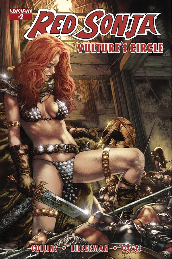 Red Sonja: Vulture's Circle 2, Anacleto cover, Dynamite 2015