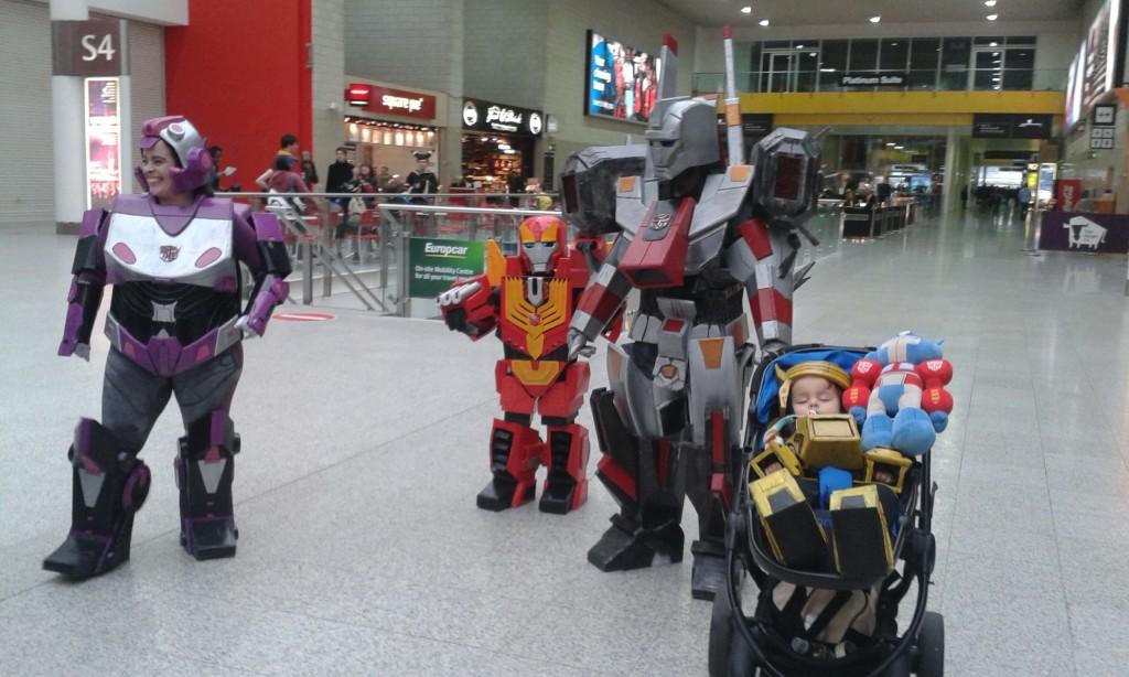 Transformer family; London Super Comic Con, 2015