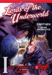 The Darkest Night 1, Harlequin Josei Manga, Lords of the Underworld, Gena Showalter & Earithen,