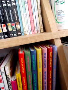 Claire's bookshelves