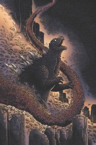 Godzilla in Hell promo image, creator James Stokoe, IDW publishing 2015