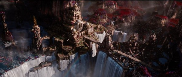 The scenery and design do a fantastic job of blending the recognisable with the alien