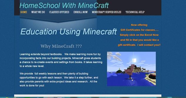HomeSchool with Minecraft