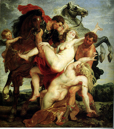 Rape of the Daughters of Leucippas, Peter Paul Rubens