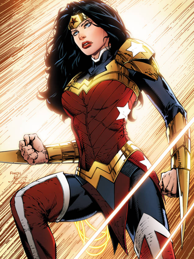 Wonder Woman's new outfit, as drawn by David Finch