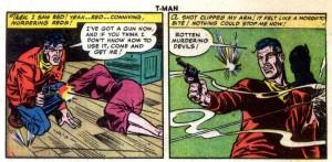 Pete Trask, T-Man, issue 5, Reed Crandall, digital comics museum, Quality Comics, 1951