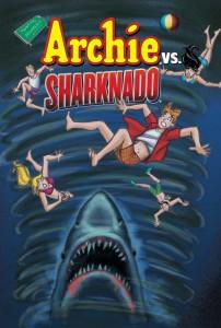Archie versus Sharknado #1 cover, art by dan parent, written by dan parent and Anthony C. Ferrante, archie comics 2015