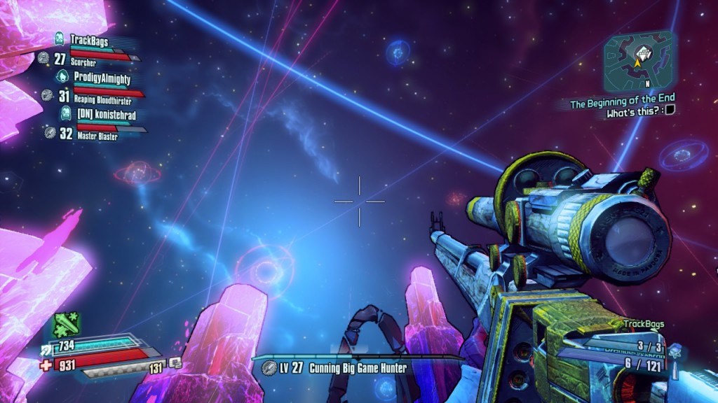 A starry sky, after the dust settles in Borderlands: the Pre-Sequel