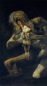 """Saturn Devouring His Son"" by Francisco Goya, c. 1819-1823, Museo del Prado, Madrid."