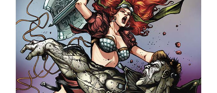 Legenderry Red Sonja #3, Cover, Davila, Dynamite, 2015