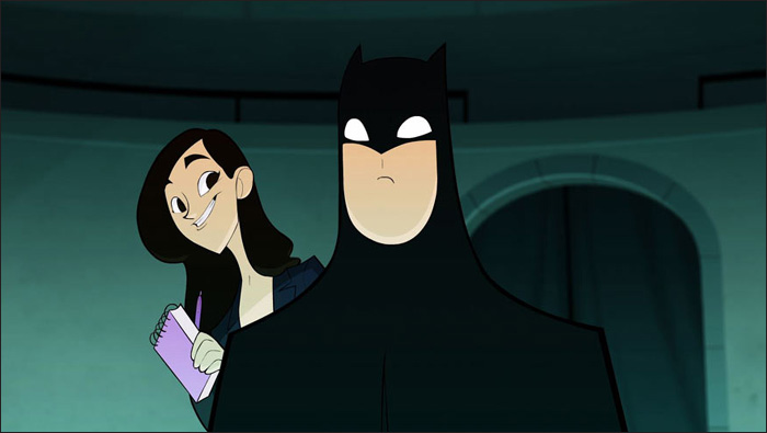 "Lois Lane. Batman. DC Nation Short: ""Tales of Metropolis, Starring Lois Lane"". DC Comics."