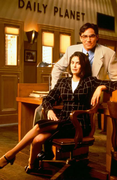 Lois & Clark: The New Adventures of Superman (1993-1997). Teri Hatcher. Lois Lane. Dean Cain. Clark Kent/Superman. TV.