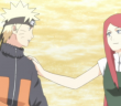 Naruto and Kushina Uzumaki from Naruto episode Shippuden 246. Original story & art by Masashi Kishimoto. Studio Pierrot, 2007-2015.