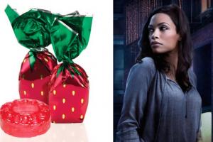"""Rosario Dawson. Claire """"Night Nurse"""" Temple. Marvel's Daredevil. Strawberry Delight Candies."""