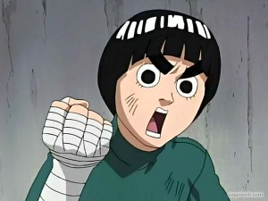 "Rock Lee from ""Naruto"" anime, Viz Media, 2002-2007. Original Character: Masashi Kishimoto."