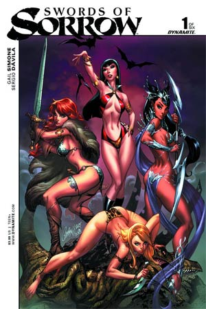 Swords of Sorrow #1 cover by J. Scott Campbell, Dynamite 2015