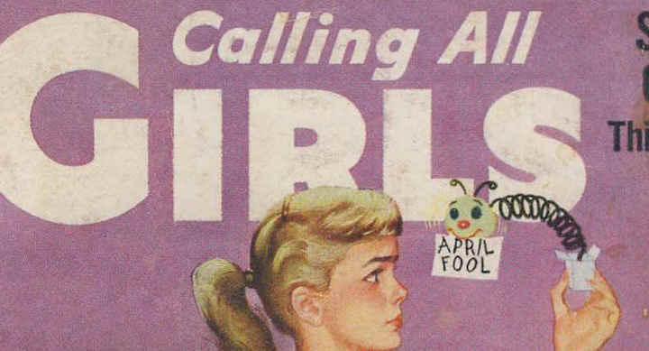 stock: Calling All Girls, Parents' Magazine Publication Office, June-July 1945, digital comics museum, April 1960, digital comics museum