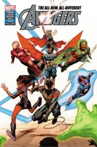 All-New, All-Different Avengers. The Uncanny Inhumans. Marvel Comics. 2015. FCBD. Free Comic Book Day. Comics.
