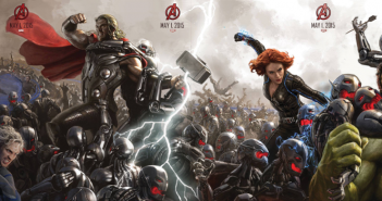 Avengers Age of Ultron banner poster. Directed by Joss Whedon. Marvel Studios, 2015.