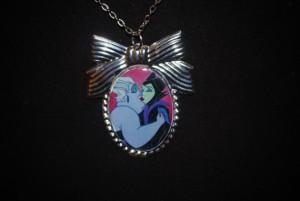BeesKneesCrafts_Ursula and Maleficient LGBTQ Necklace
