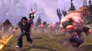 One of the bosses in Brutal Legend is a huge spider.