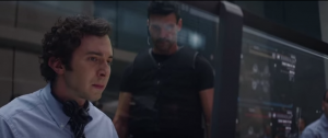 Cameron Klein (Aaron Himelstein) and Brock Rumlow (Frank Grillo) - still image from Captain America The Winter Soldier Directed by Joe & Anthony Russo. Marvel Studios 2014.