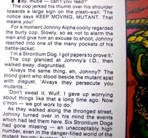 Strontium Dog text story, 2000 AD annual 1981, uncredited