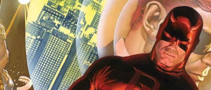 Daredevil #1 Alex Ross variant cover, Marvel Comics 75th Anniversary. Marvel Comics, 2014.