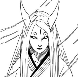Kaguya Ootsutsuki  from Naruto Chapter 670. Story & Art by Masashi Kishimoto. Shueisha, 2014.