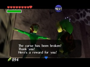 Legend of Zelda: The Ocarina of Time - A man who used to be a skulltula.
