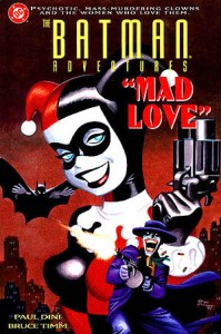 "The cover of 1994's ""Mad Love."" (Cover art: Bruce Timm)"