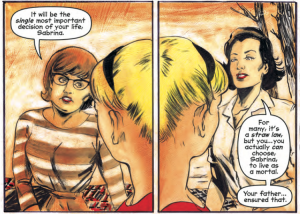 Chilling Adventures of Sabrina #3, Archie Comics, Script by Roberto Aguirre-Sacasa Art by Robert Hack & Jack Morelli