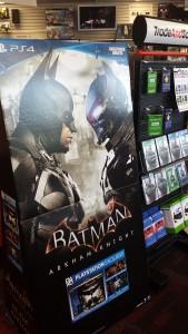 Batman game poster at GameStop