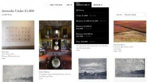 Artsy.com Works for Sale on June 19, 2015