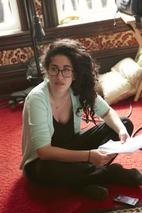 BTS: Producer Steph Ouaknine behind-the-scenes of Carmilla season two, filmed on location at The Darling Mansion in Toronto. All photos by Sophie Giraud for Smokebomb/shift2; Copyright: Smokebomb/shift2.