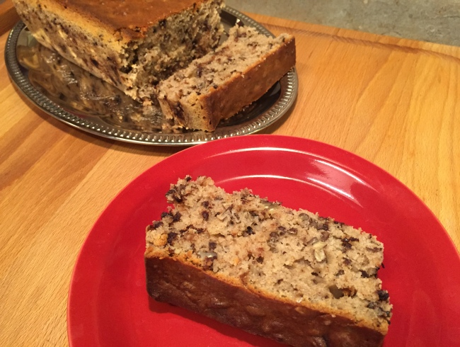 Cook Your Comics - sliced chocolate chip nut bread