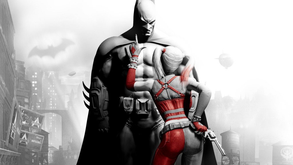 Harley Quinn and Batman in Batman: Arkham City
