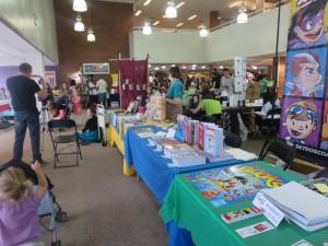kids read comics, library, photo, romona williams