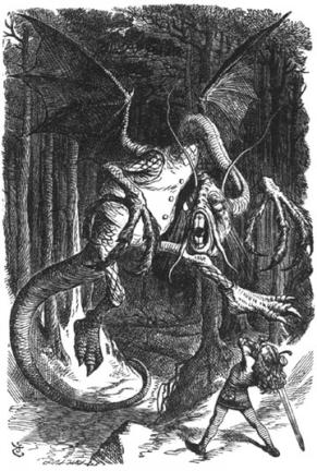 Jabberwocky by Lewis Carrol, art by Sir John Tenniel
