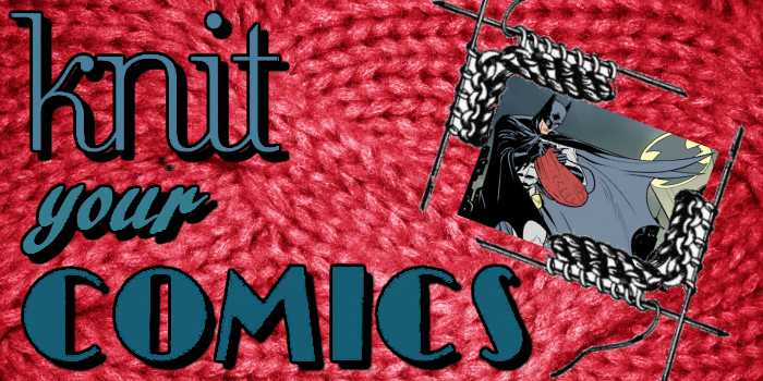 Knit Your Comics: Harley Quinn Fingerless Gloves