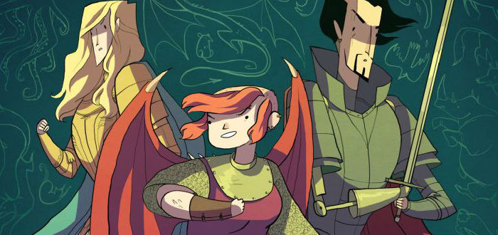 Cover detail from Nimona by Noelle Stevenson