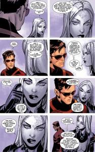 Emma Frost, Uncanny X-Men volume 3, Bendis & bachalo, with Tim Townsend, Jaime Mendoza, Al Vey & Victor Olazaba