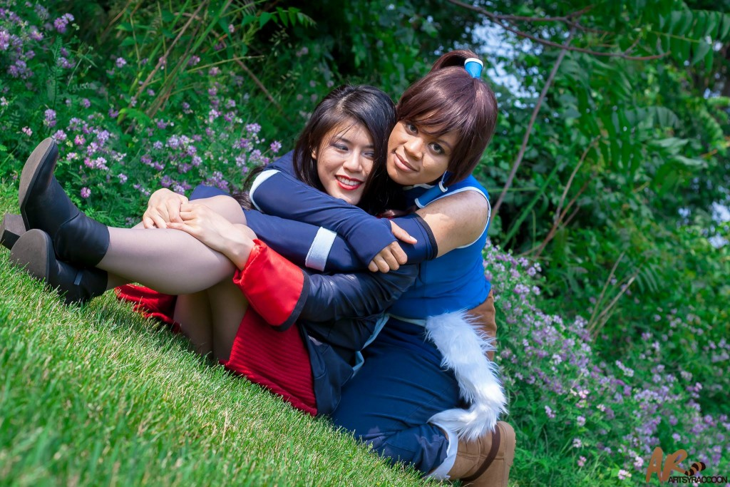 Madi cosplays Korra with a friend as Asami from Legend of Korra.