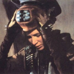 Carrie Fisher disguised as Boussh in Return of the Jedi